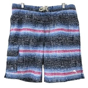 Tommy Bahama Relax Swim Trunks Printed Words Multi